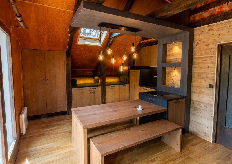 Rénovation de la cuisine dans un chalet